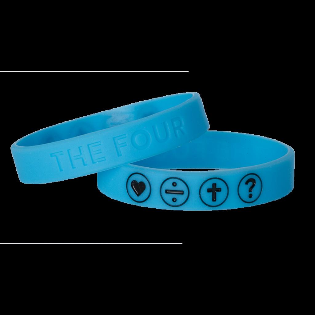Armband blau fluoreszierend