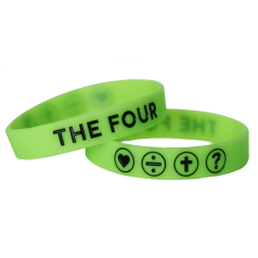 THE FOUR Armband neongrün