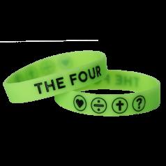 THE FOUR Armband neongrün