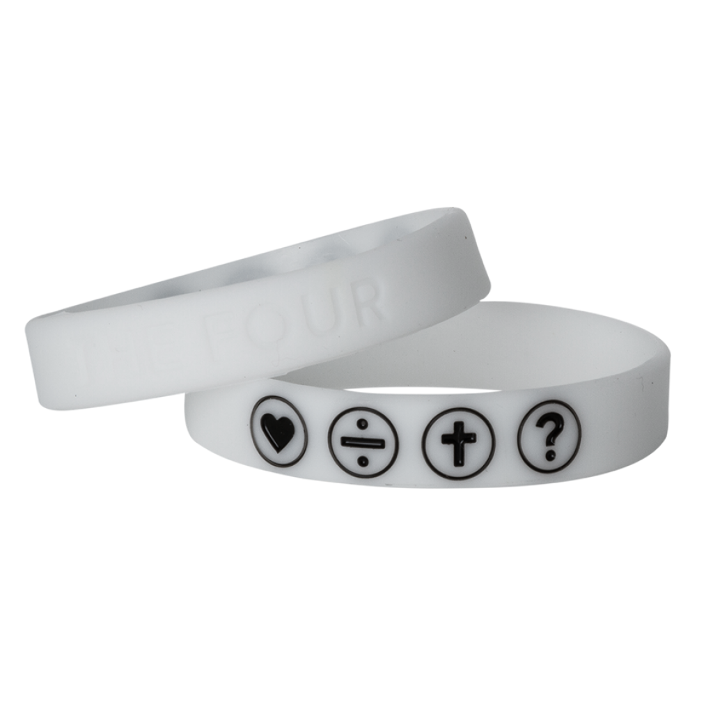 Armband weiss fluoreszierend