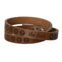 THE FOUR Lederarmband hellbraun