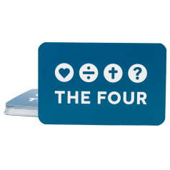 THE FOUR Visitenkarte blau (20-er Pack)