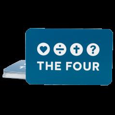 THE FOUR Visitenkarte blau (20-er Pack)