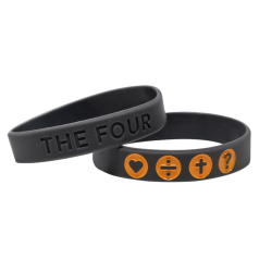 THE FOUR Armband grau/orange
