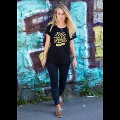 "THE FOUR T-Shirt ""Script"" schwarz Frauen"
