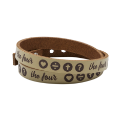 THE FOUR Lederarmband beige