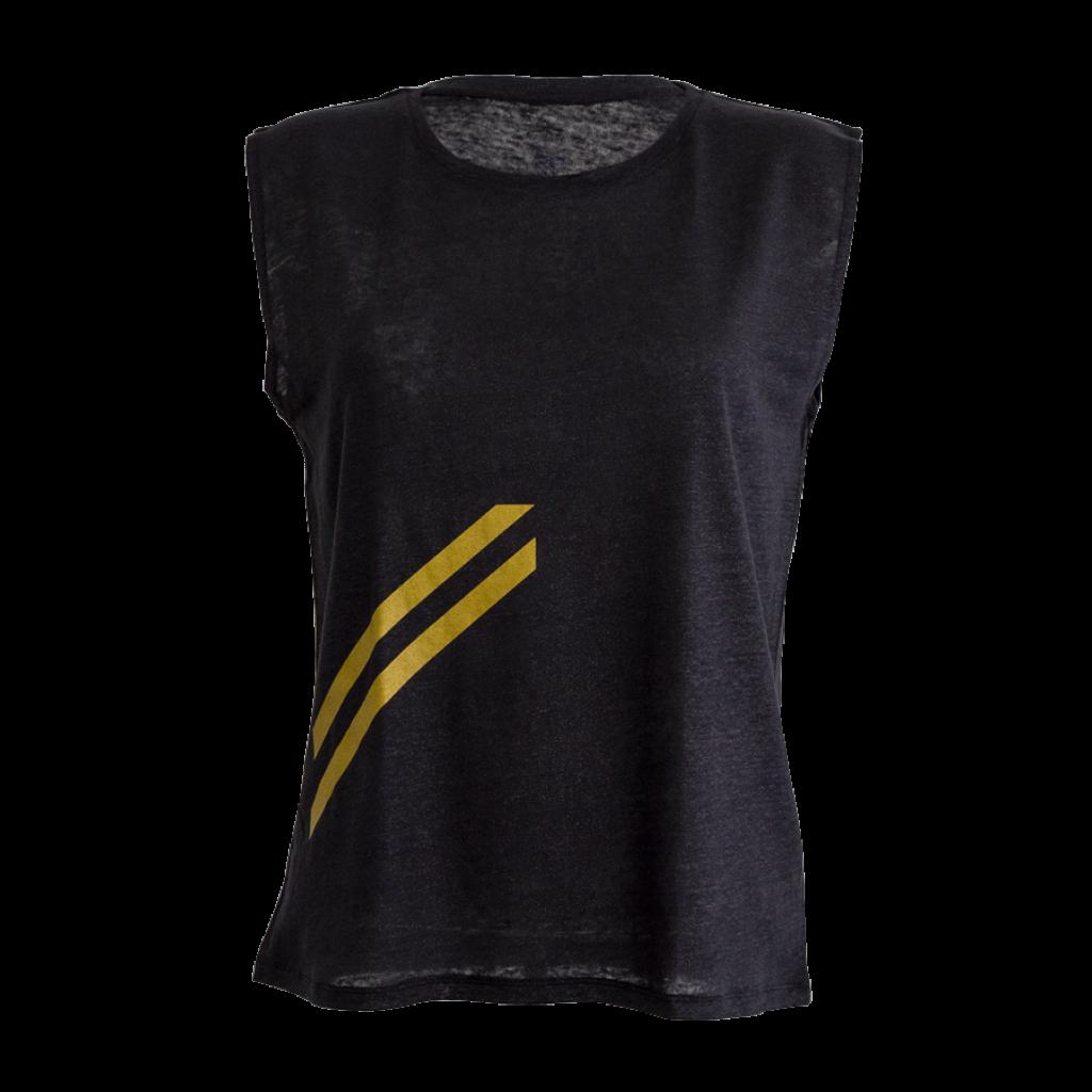 SHINE T-Shirt Woman «Strahlen» glitzer schwarz