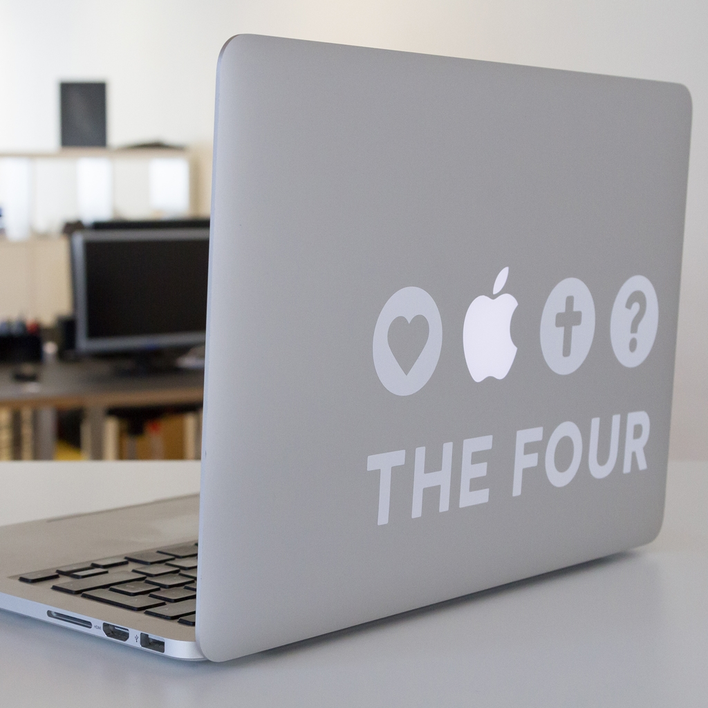 THE FOUR Kleber MacBook weiss