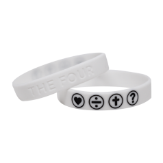 THE FOUR Armband weiss