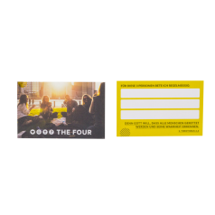 THE FOUR Gebets-Karte