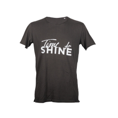 SHINE T-Shirt Man Time to SHINE anthra..