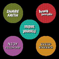 SHINE Lifestyle Stickers (5-er Set)