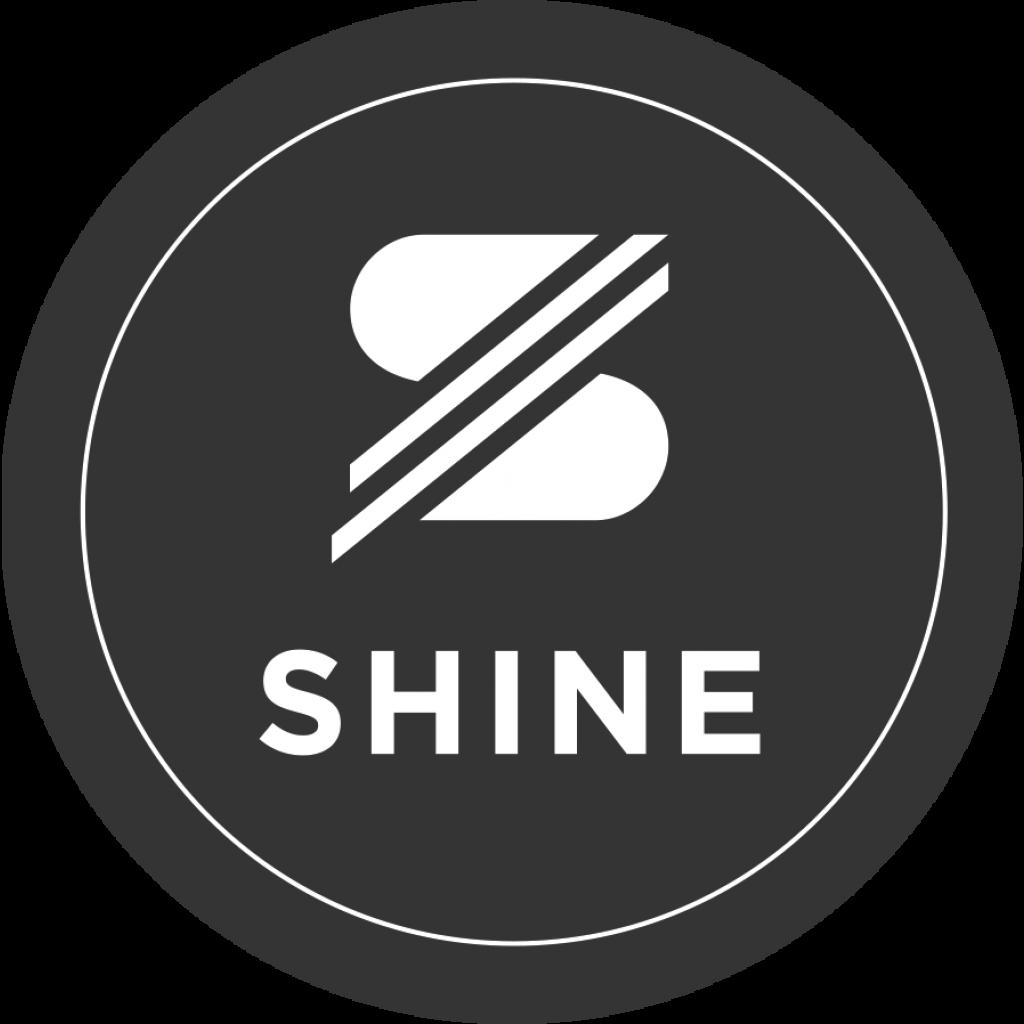 SHINE Sticker schwarz/weiss