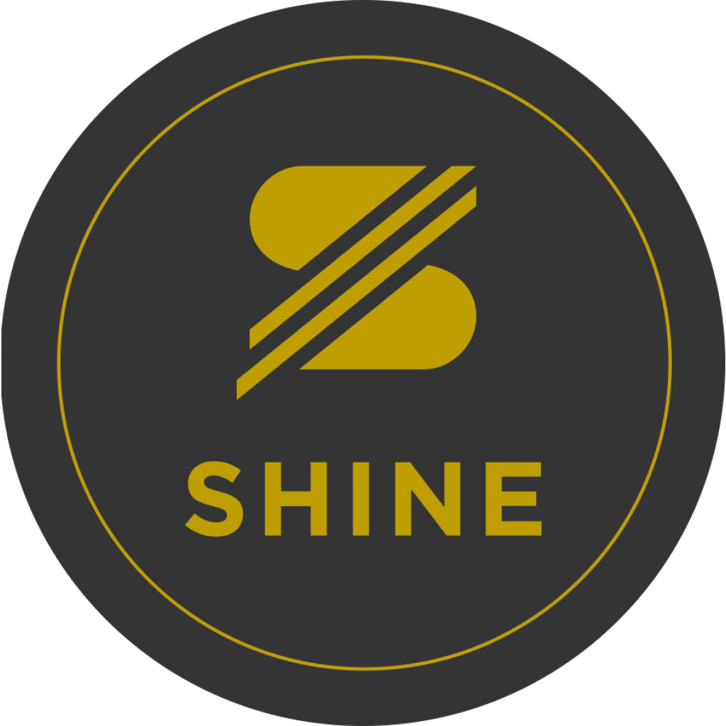 SHINE Sticker schwarz/gold