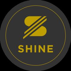 SHINE Sticker schwarz/gold