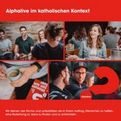 """Broschüre """"Alphalive im katholischen K.."""