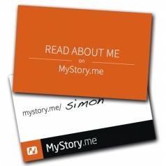 "MyStory.me Visitenkarte ""neutral"""